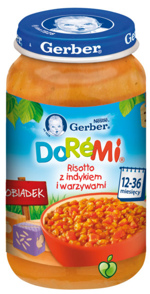 Гербер Бебешко пюре Ризото, пуешко и зеленчуци 1г+ 250 гр.